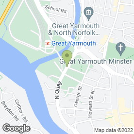 Map of Aldi in GREAT YARMOUTH, norfolk