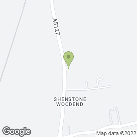 Map of Toby Carvery - Shenstone in Shenstone Wood End, Lichfield, staffordshire