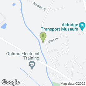 Map of The Ironing Shop in Aldridge, Walsall, west midlands