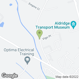 Map of Corporate Styling in Aldridge, Walsall, west midlands