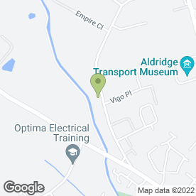 Map of CONTRACT & HOME BLINDS in Aldridge, Walsall, west midlands