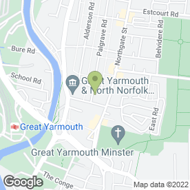 Map of Andy's Driving Tuition in Great Yarmouth, norfolk