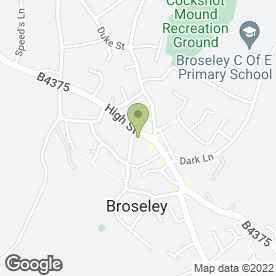 Map of Twilight Discos in Broseley, shropshire