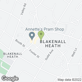 Map of Blakenall Community Centre in Walsall, west midlands