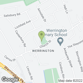 Map of Three Horseshoes in Werrington, Peterborough, cambridgeshire
