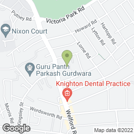 Map of K.M Plumbing & Heating in Leicester, leicestershire