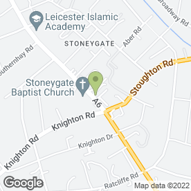 Map of Regency Hotel in Leicester, leicestershire