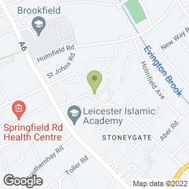 Map of Stoneygate College in Leicester, leicestershire
