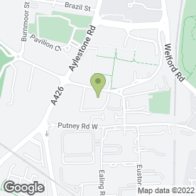 Map of Vauxhall - Drive Leicester in Leicester, leicestershire