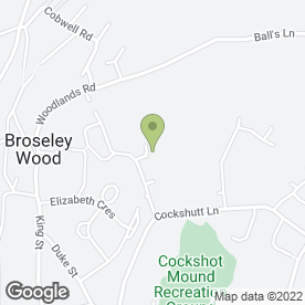 Map of A McCreadie in Broseley, shropshire