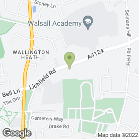 Map of Walsall Academy in Bloxwich, Walsall, west midlands