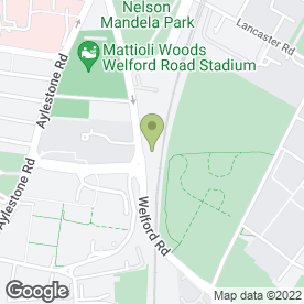 Map of Sandicliffe Ford & Mazda Leicester in Leicester, leicestershire