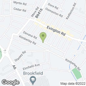 Map of RIO & BROTHERS ESTATE AGENTS LTD in Leicester, leicestershire