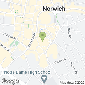 Map of Timber Hill Health Centre in Norwich, norfolk