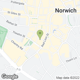 Map of Shoe Zone in Norwich, norfolk