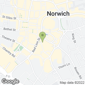 Map of Waxed Works in Norwich, norfolk