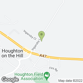 Map of Paula Wan in Houghton-on-the-Hill, Leicester, leicestershire