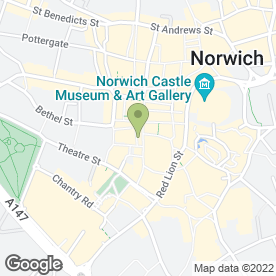 Map of Starbucks Coffee Co (UK) Ltd in Norwich, norfolk