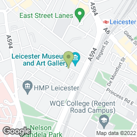 Map of The Bridal Room Leicester in Leicester, leicestershire