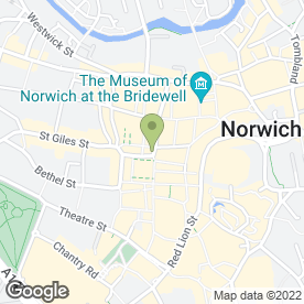 Map of Basler in Norwich, norfolk