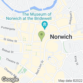Map of Greggs in Norwich, norfolk