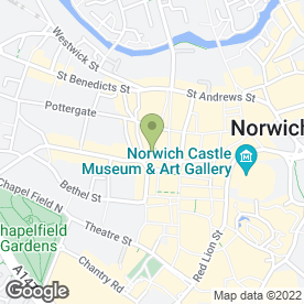 Map of Tesco Metro in Norwich, norfolk