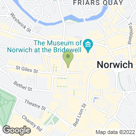 Map of Norwich Cosmetic Clinic in Norwich, norfolk