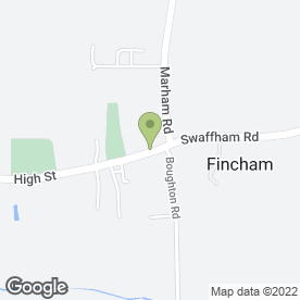 Map of Fincham Stores & P.O in Fincham, King's Lynn, norfolk