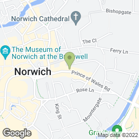 Map of Arnolds Keys in Norwich, norfolk