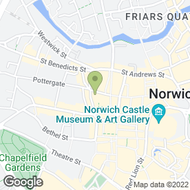 Map of Pottergate Pantry in Norwich, norfolk