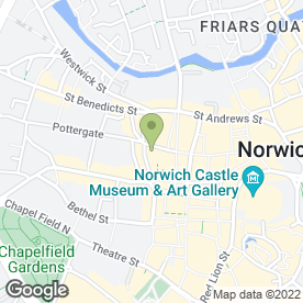 Map of Treetops Dental Practice & Norwich in Norwich, Norfolk, norfolk
