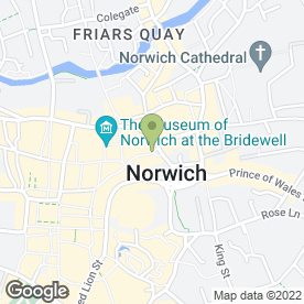 Map of Co-operative Bank plc in Norwich, norfolk
