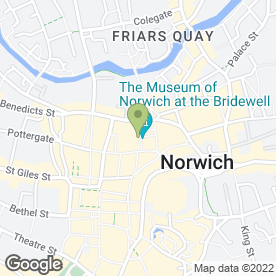 Map of Pasha in Norwich, norfolk