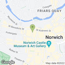 Map of Presma (Pre School Music Association) in Norwich, norfolk