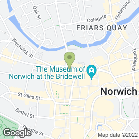 Map of Saints Coffee Bar in Norwich, norfolk
