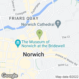 Map of Prezzo plc in Norwich, norfolk