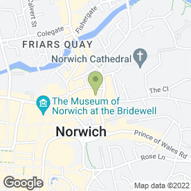 Map of Caffe Uno in Norwich, norfolk