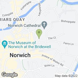 Map of Norwich School in Norwich, norfolk