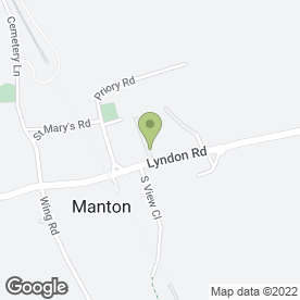 Map of Manton Hall Residential Home in Manton, Oakham, rutland