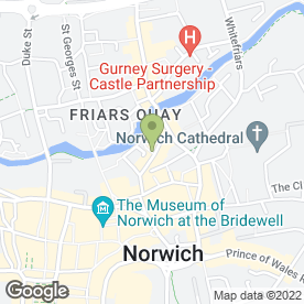Map of John Olivers Hairdressing Group in Norwich, norfolk