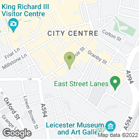 Map of Suit Yourself in Leicester, leicestershire