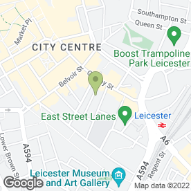 Map of Yes Sales Recruitment in Leicester, leicestershire
