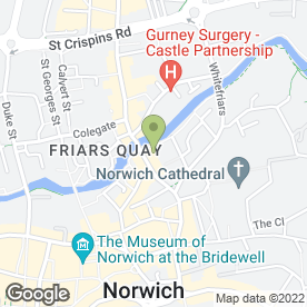 Map of Cutting Crew Organic Hairdressers in Norwich, norfolk