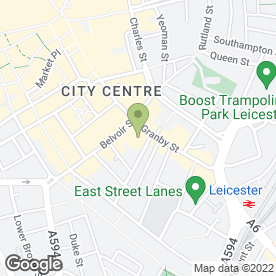 Map of The Ramada Leicester in Leicester, leicestershire