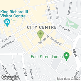 Map of Las Iguanas in Leicester, leicestershire