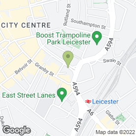 Map of Rainbow & Dove in Leicester, leicestershire