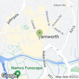Map of Direct Sales in Tamworth, staffordshire