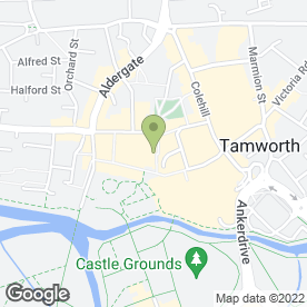 Map of Greggs in Tamworth, staffordshire