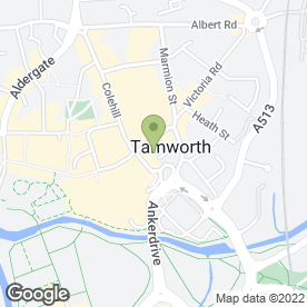 Map of Pure Beauty in Tamworth, staffordshire