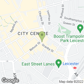 Map of Moore & York Residential Lettings in Leicester, leicestershire